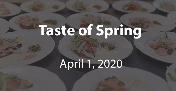Clickable Image for Taste of Spring showing plates and the event date