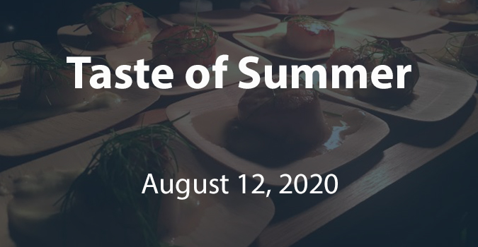 Clickable image showing food from a previous tasting event. Links to an information page about Taste of Summer
